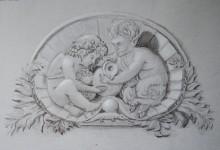 Grisaille tekening.